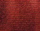 Red Holographic Tiles on Black Spandex Fabric