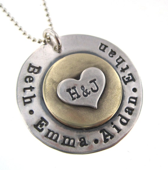 family keepsake necklace personalized sted jewelry