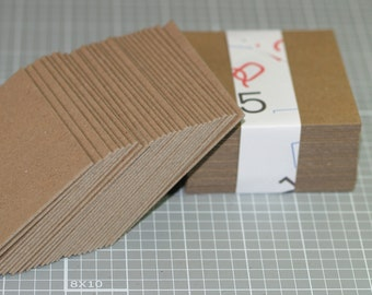 """Kraft Chipboard Squares 3"""" (25) ... Chipboard Recycled Cards Art Supplies Heavyweight Mixed Media Thick Craft Supply Art Supplies Blanks"""