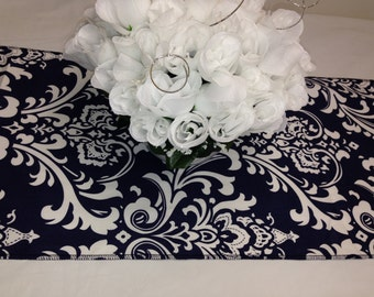 Lot of 3 black and white table runners, 84L x 12W tablerunners for wedding , party, 609
