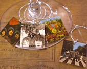 12 Beatles Album Cover Wine Charms for the Music/Wine Lover GREAT jewelry for your wine glasses Fast Shipping Cool Wedding Gift