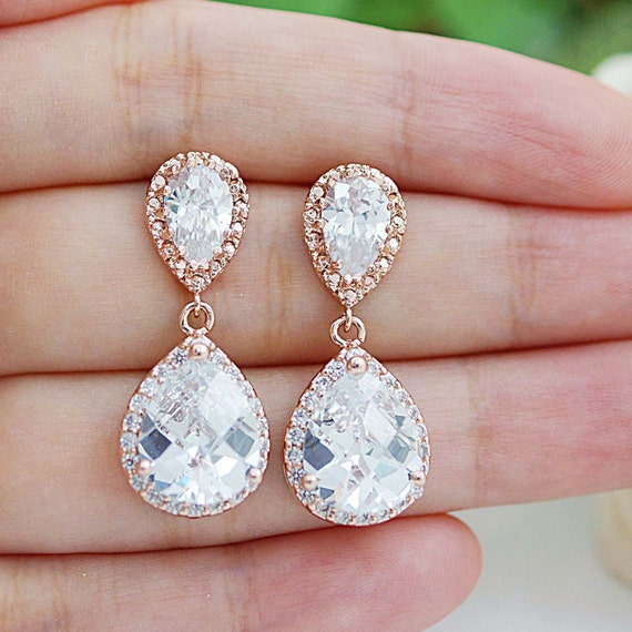 Wedding Gift Jewelry : Wedding Jewelry Bridal Earrings Bridesmaid Gift Bridal Jewelry LUX ...