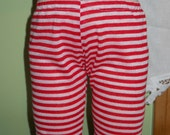 Waldorf Doll Red and White Stripe Leggings  - 15 Inch Bambo Size - BG