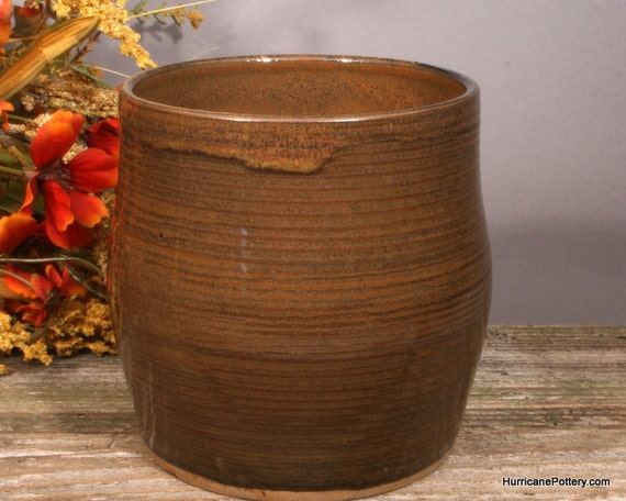 Kitchen Utensil Holder Crock Handmade Pottery Hurricane