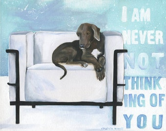 Labrador on Le Corbusier Chair Lab Lovers Art