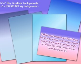 Digital Papers, Clipart, Digital Backgrounds, Sky Backgrounds