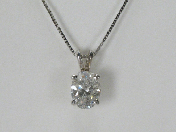 Oval Diamond Solitaire Oval Diamond Solitaire Pendant