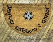 Elvish Tolkien - Speak Friend and Enter- doormat XL geek stuff