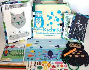 Kid's Travel Kit, Kids Activity Kit, Kids Craft Kit, The Original KidKit, Reusable Travel Games in Bag, Kids Craft Kit, Kids Gift