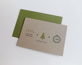 Northwest is Best - Letterpress Card