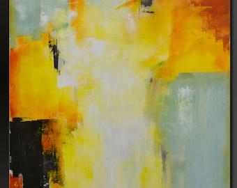 Sea Foam - 30 x 24 - Acrylic Abstract Fine Art Painting- Contemporary Wall Art