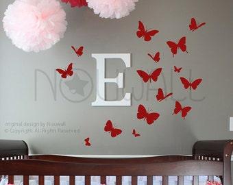 Butterflies Wall Decal, butterfly ,Bedroom Wall decals Wall Sticker Vinyl ,wall decor, home decor  -  024