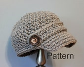 PATTERN CROCHET Newsboy Cap - Baby and Toddler Size Hat -  Instant Download