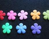 100 pcs - Felt Flower Appliques Embellishment - Mix color - size 20 mm