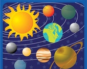 Solar System digital image download - planets, galaxy, our world, education, logo - Personal and Commercial Clip Art