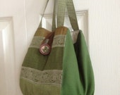 Lantern Style Bag / Knitting Project Bag / Crochet Project Bag / Sock Project Bag Size Small - Keswick Arts And Crafts