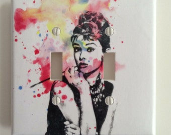 Audrey Hepburn from Breakfast at Tiffanies Decorative Light Switch Plate Cover