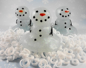 Snowman Soap - Glycerin Soap - Holiday Soap - Christmas Soap - Party Favor - Frosty the Snowman - Hostess Gift - Stocking Stuffer