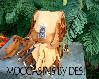 Deerskin leather Purse, Fringe, Carved Feather, beaded, Bag, Ladies, Women, Native Inspired, Western, Mountain Man, Feathers, deer hide
