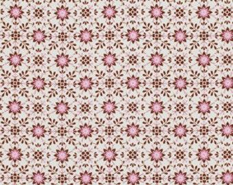 Pretty Little Things PWDF125.Brown Daisy cotton Fabric by  Dena Designs FreeSpirit Fabrics