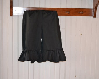 Womens Ladies Adult Black, White or Ivory Ruffle Pants Pantaloons Bloomers Sizes Available