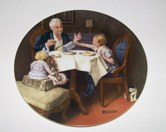 Norman Rockwell Collectible Plates Vintage Gourmet Knowles American Fine China