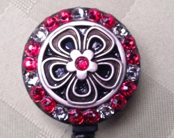 Secuity Card Reel - Flower Power Red Evening -