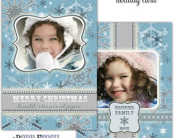 Instant Download - Photoshop PSD layered Templates for Photographers - Holiday card - Donner family design