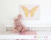"""Kids Wall art, Children wall art, Butterfly paper,  Canvas 10 x 12"""""""