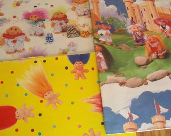 Vintage Troll Birthday Wrapping Paper New Unused 3 Sets