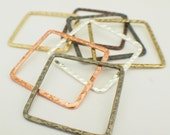 7 Hammered Square Components - 30mm - 7 Finishes - 100% Guarantee