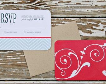 Wedding Invitation Reply Card - Kim