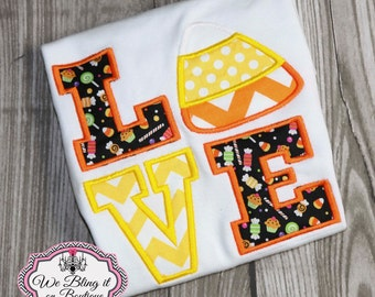 Girl's Halloween Candy Corn shirt, Girls Halloween shirt, toddler Halloween shirt, infant Halloween shirt
