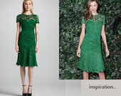 LACE couture designer inspired dress custom made wiggle
