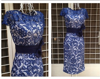 Vivian couture pencil designer inspired dress custom made wiggle lace