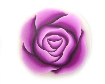 Polymer Clay Cane Purple Rose Millefiori Cane