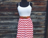Red White and Chevron Dress