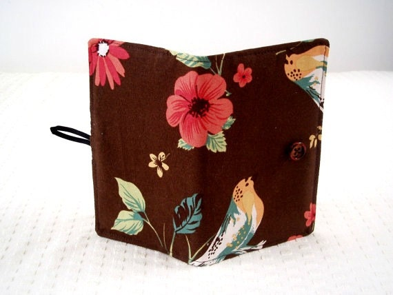 Moleskine cahier cover with birds journal included pocket size brown