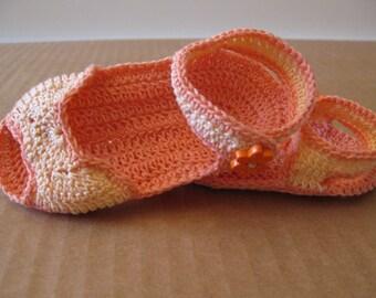 Orange and Peach Baby Sandals