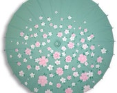 Custom Painted Nylon Parasol, Wedding Parasol, Costume Parasol