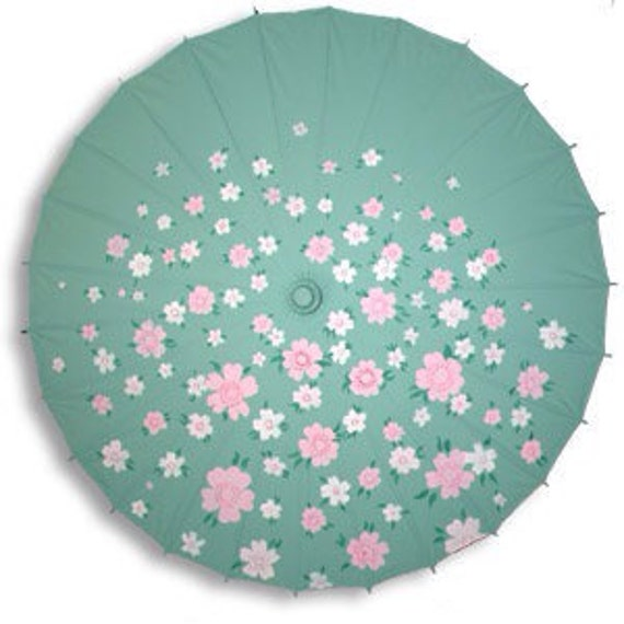 Custom Painted Paper Parasol, Wedding Parasol, Costume Parasol