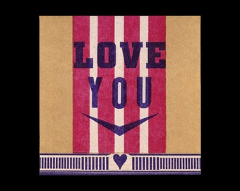 Letterpress Love Card