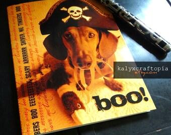 halloween dachshund card