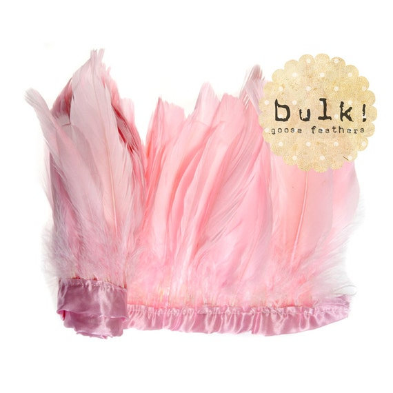 BABY PINK - BULK - 5.5-7 inches - Goose Nagoire - Round and Full feather plumes - Wholesale Feathers