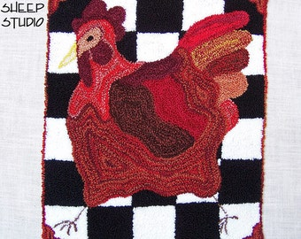 Punch Needle Pattern - French Country Hen - #PN516 - Needlepunch Embroidery