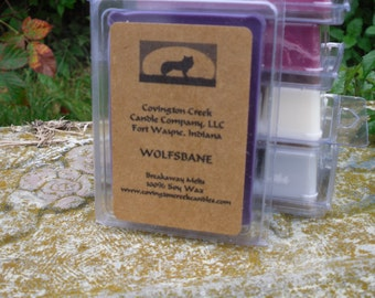 Halloween Wolfsbane Pure Soy Breakaway Melt from Covington Creek Candle Company
