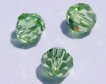 Swarovski crystal beads Round Crystal elements Beads 5000 PERIDOT August birthstone - Available in 4mm, 6mm and 8mm