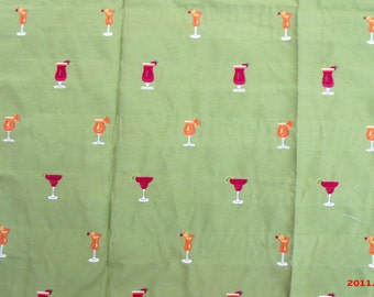 Cocktail Upholstery Fabric Yardage Daquiri Cosmopolitan Beach House Chic Coastal Decor