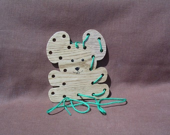 Lacing/Sewing Card - Mouse