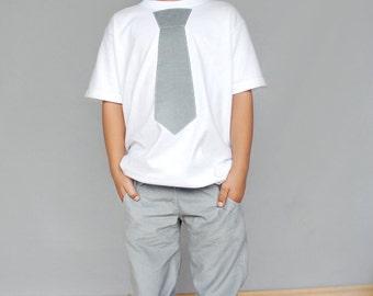 Boys Applique Tie shirt, school shirt, Tie shirt, Applique, Corduroy